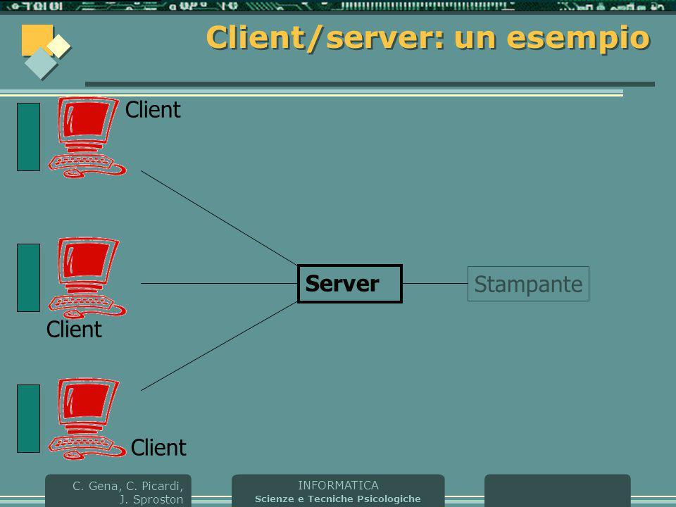 Client/server: un esempio