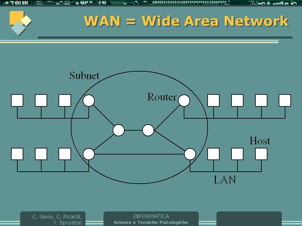 WAN = Wide Area Network