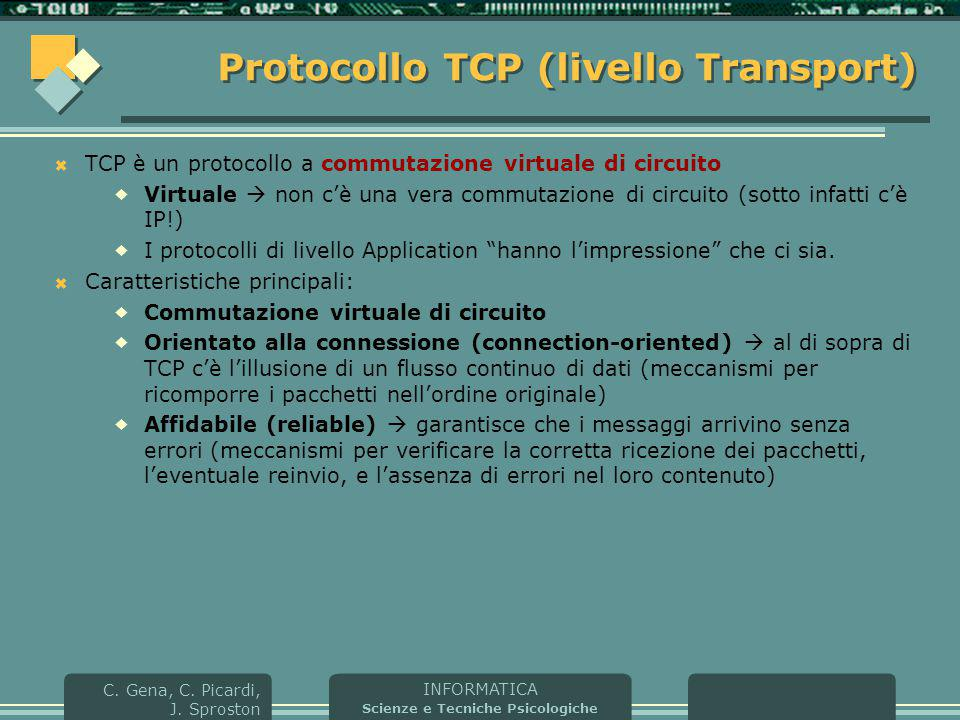 Protocollo TCP (livello Transport)