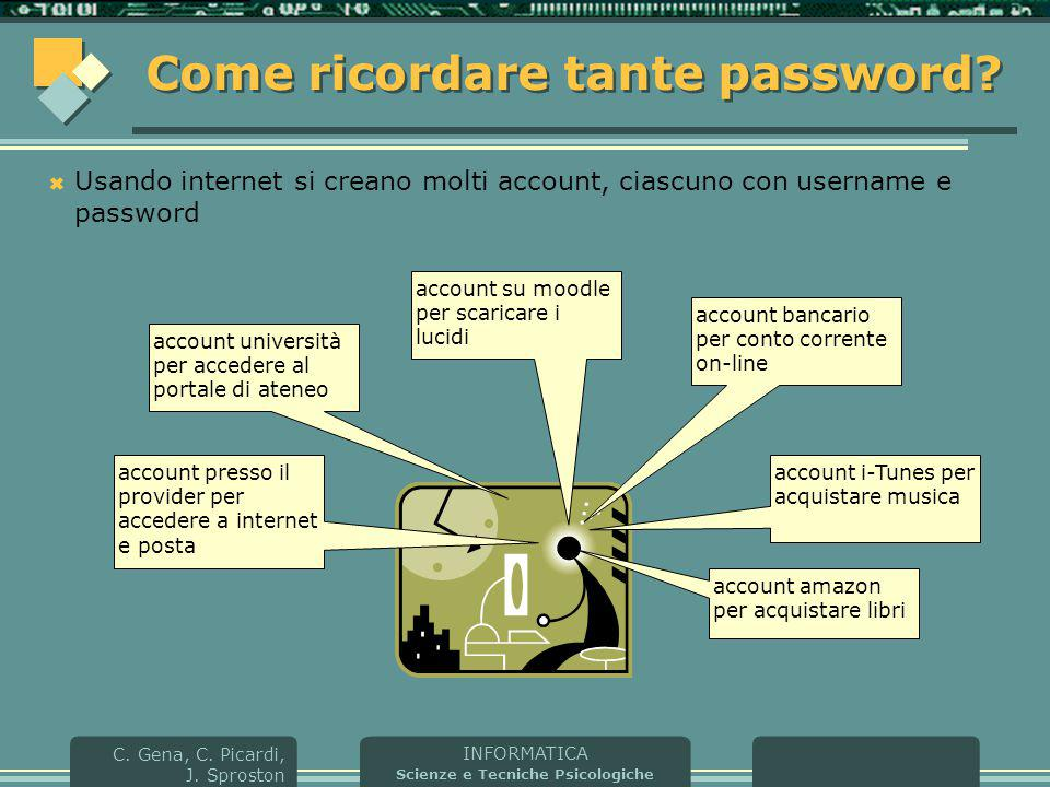 Come ricordare tante password
