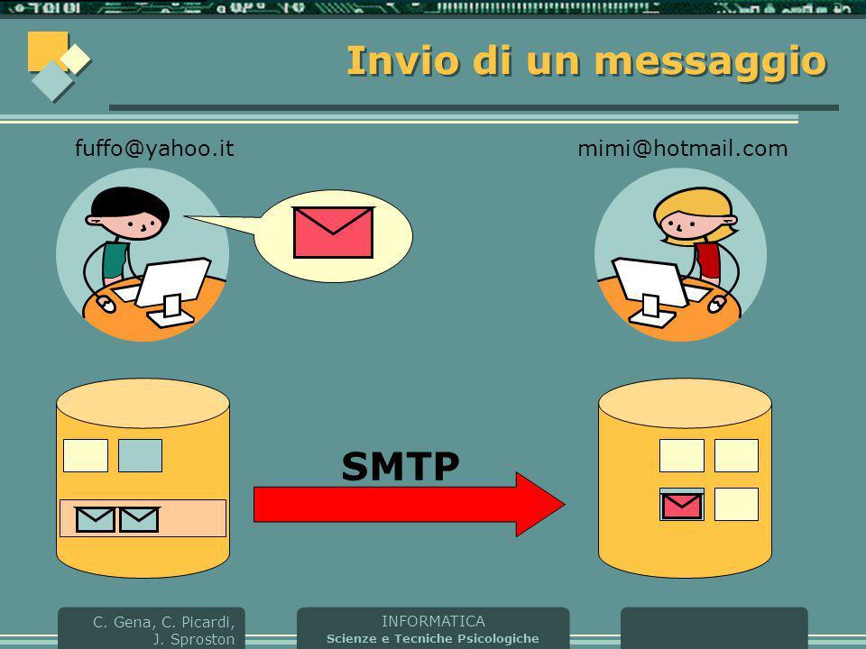 Invio di un messaggio fuffo@yahoo.it mimi@hotmail.com SMTP