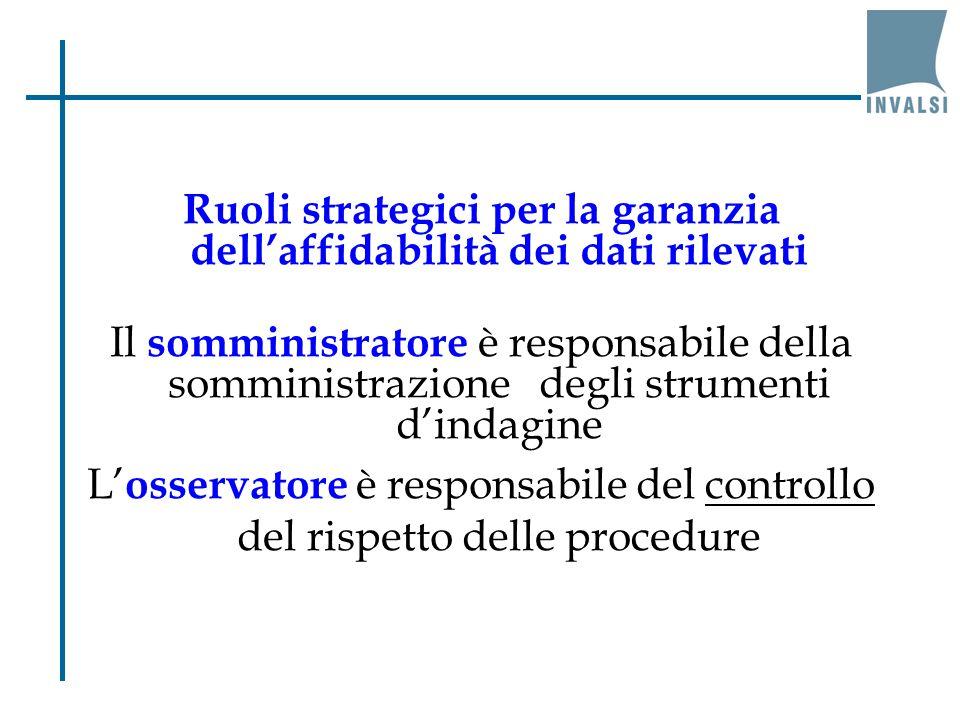 Ruoli strategici per la garanzia dell'affidabilità dei dati rilevati