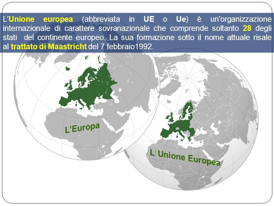 L'Europa L' Unione Europea