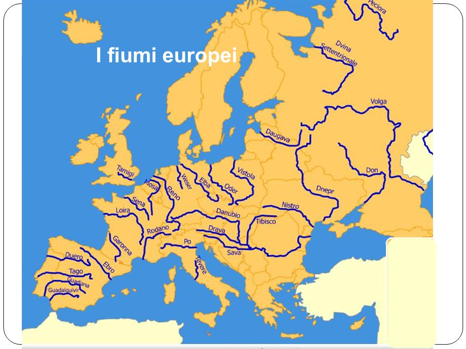 I fiumi europei