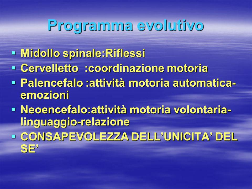Programma evolutivo Midollo spinale:Riflessi