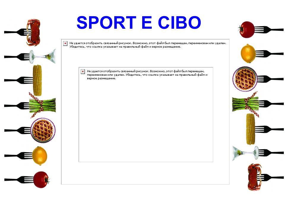 SPORT E CIBO 10 10 10 10