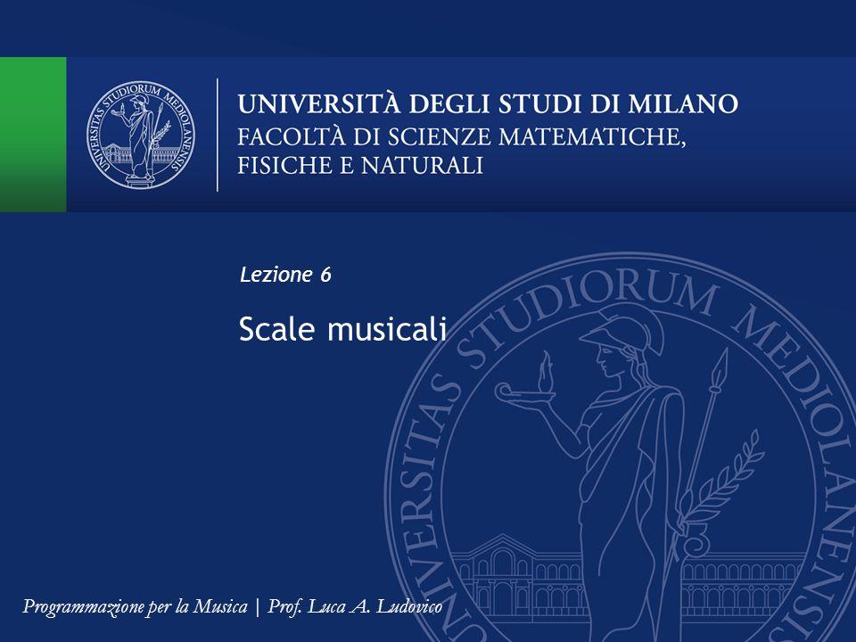 Scale musicali Lezione 6