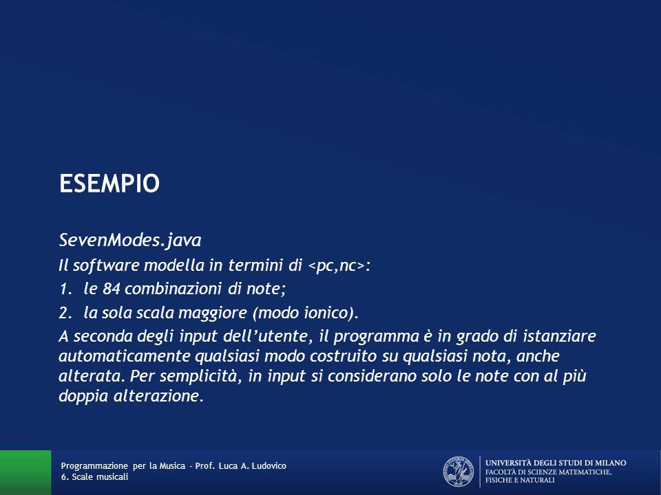 ESEMPIO SevenModes.java