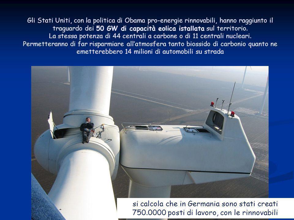 Energia dal vento si calcola che in Germania sono stati creati