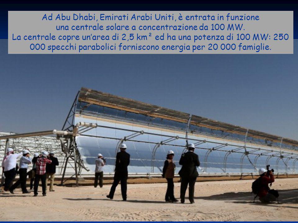 Ad Abu Dhabi, Emirati Arabi Uniti, è entrata in funzione