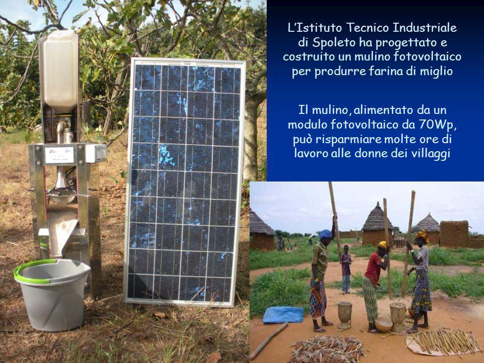 L'Istituto Tecnico Industriale di Spoleto ha progettato e costruito un mulino fotovoltaico per produrre farina di miglio