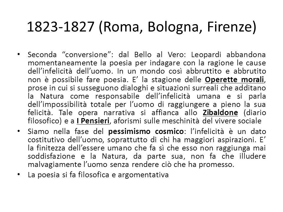 1823-1827 (Roma, Bologna, Firenze)