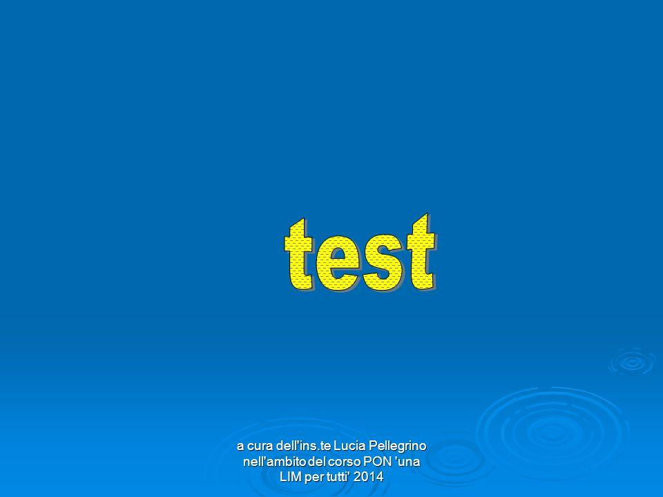 test a cura dell ins.te Lucia Pellegrino nell ambito del corso PON una LIM per tutti 2014