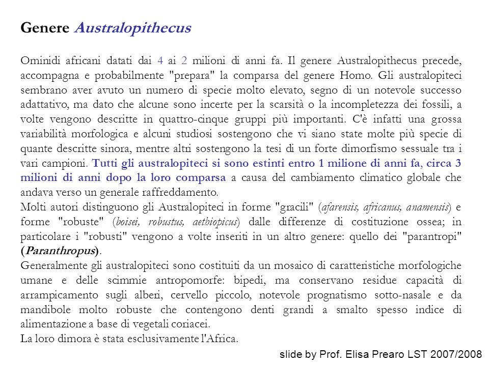 Genere Australopithecus