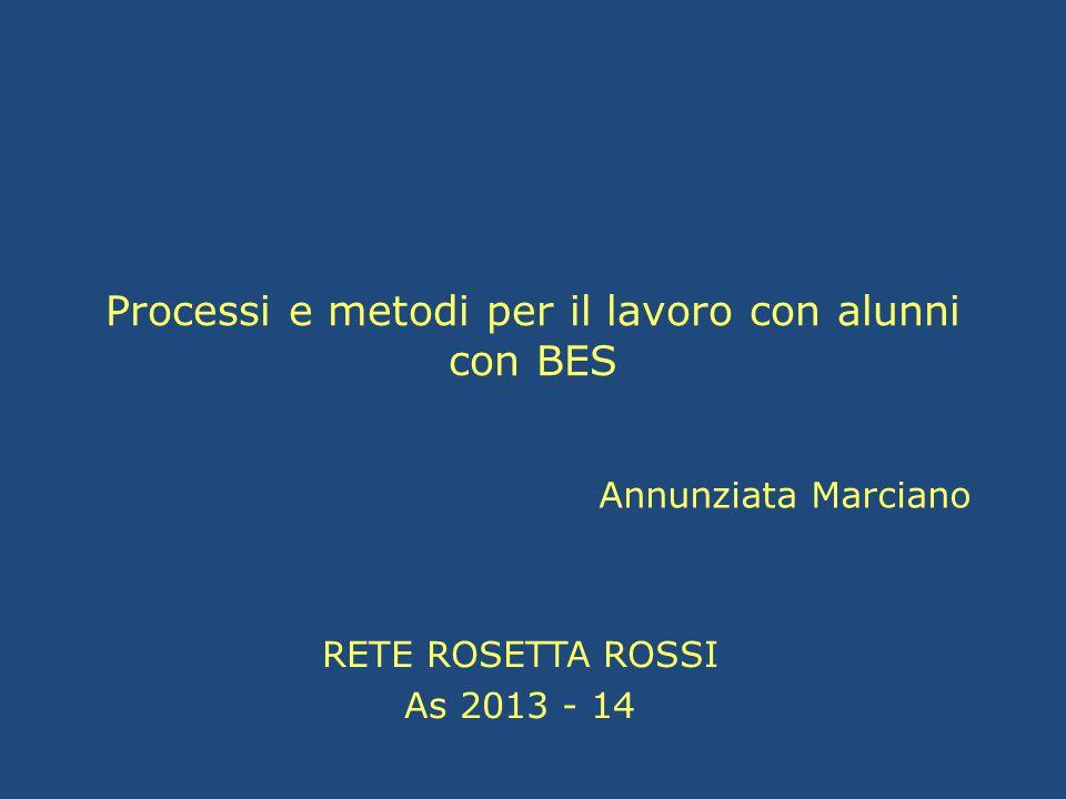 Processi e metodi per il lavoro con alunni con BES