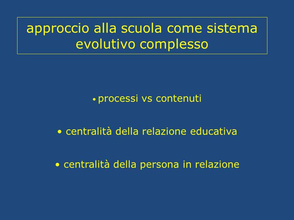 approccio alla scuola come sistema evolutivo complesso