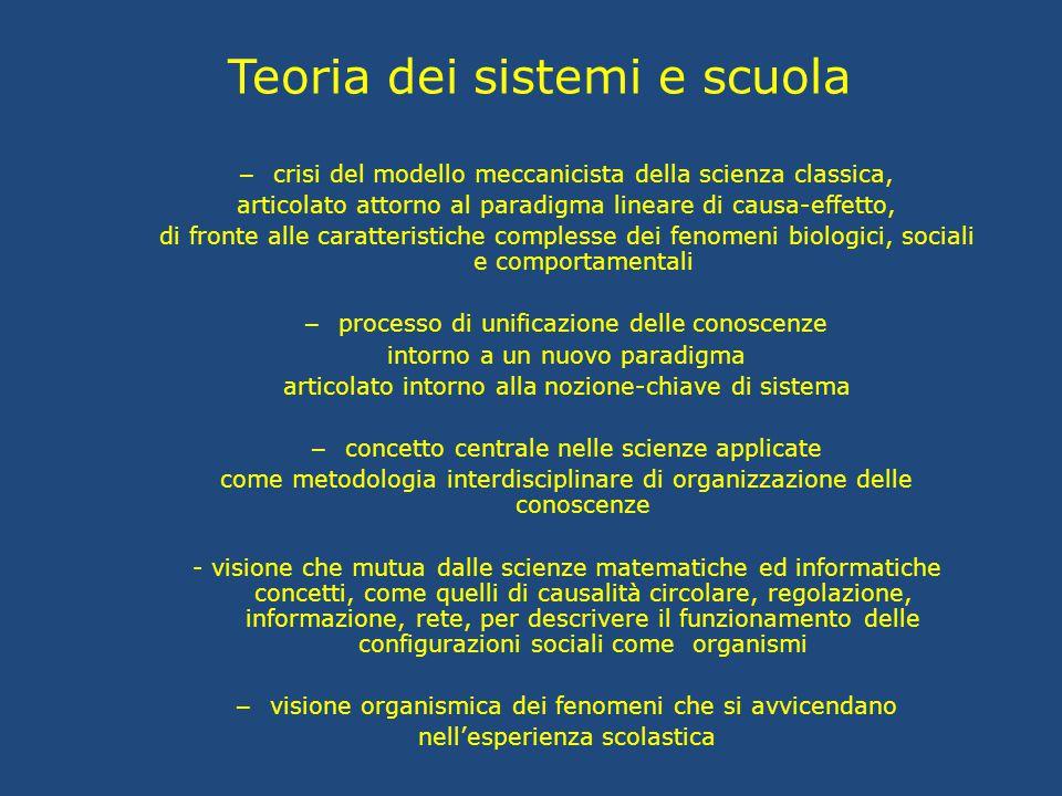 Teoria dei sistemi e scuola
