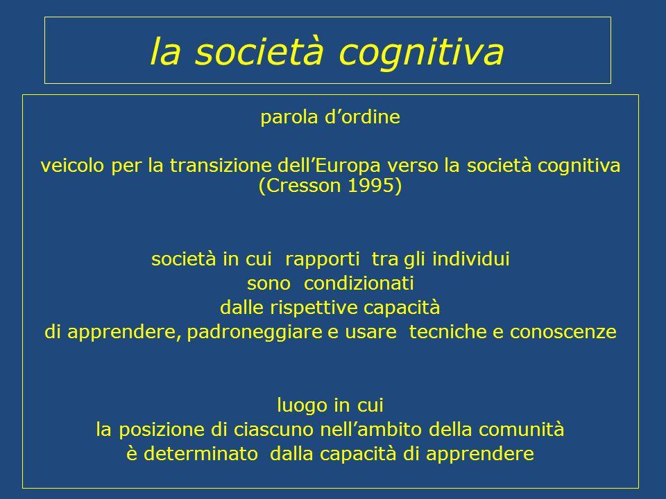 la società cognitiva parola d'ordine