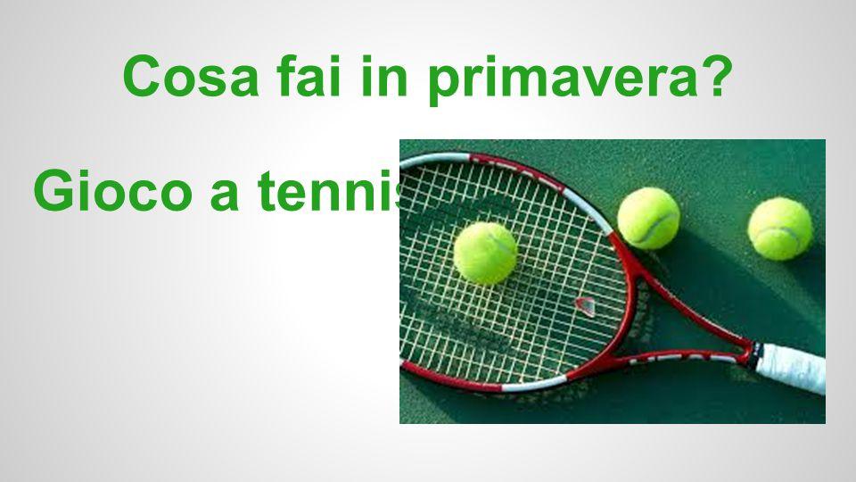Cosa fai in primavera Gioco a tennis.