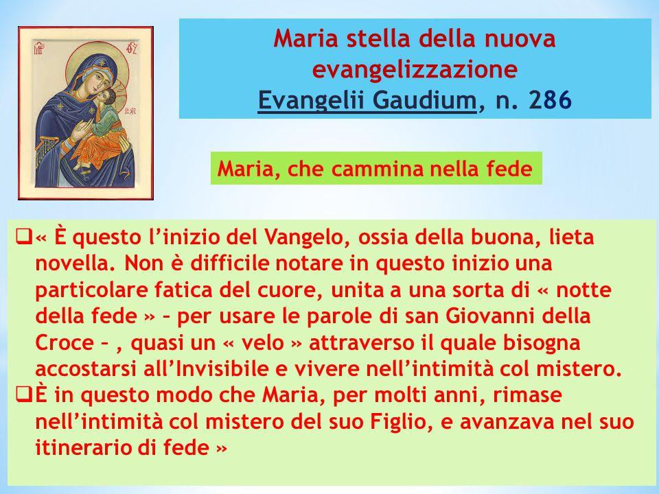 Maria stella della nuova evangelizzazione