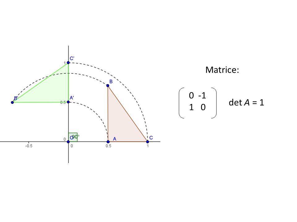 Matrice: 0 -1 1 0 det A = 1