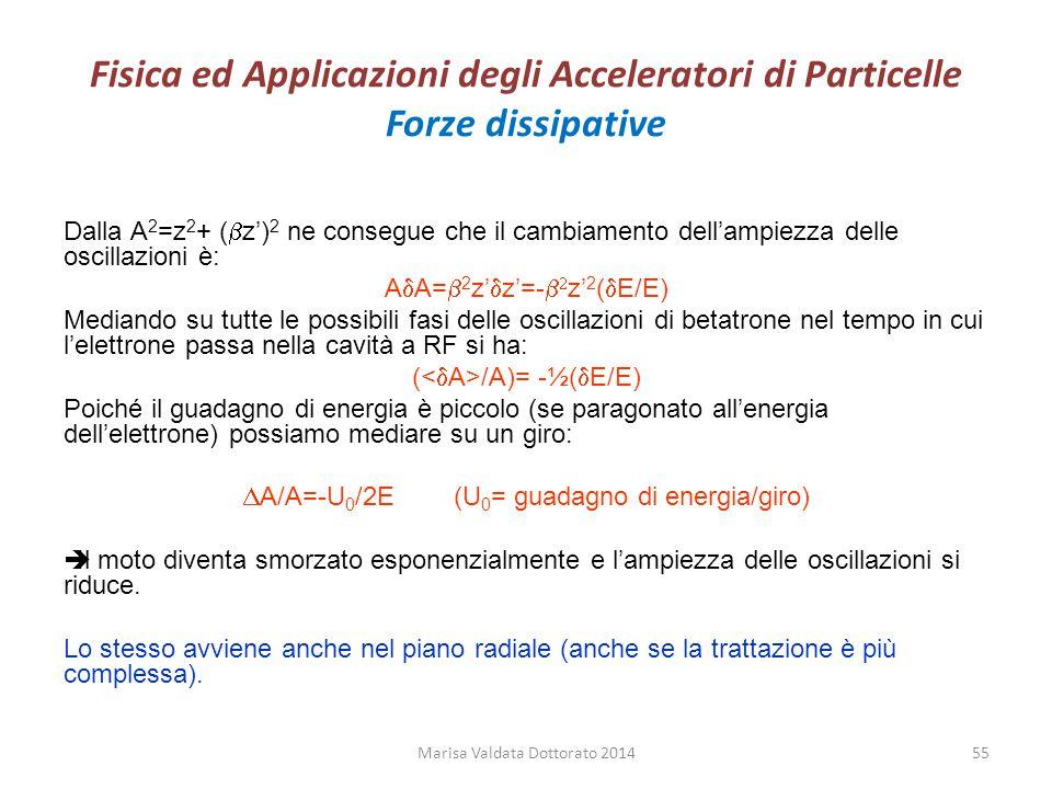 Fisica ed Applicazioni degli Acceleratori di Particelle Forze dissipative