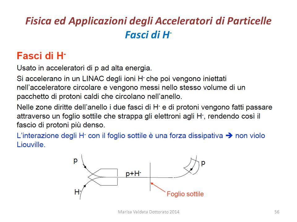 Fisica ed Applicazioni degli Acceleratori di Particelle Fasci di H-