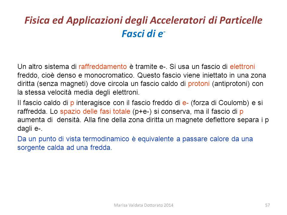 Fisica ed Applicazioni degli Acceleratori di Particelle Fasci di e-