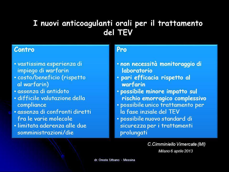 I nuovi anticoagulanti orali per il trattamento del TEV