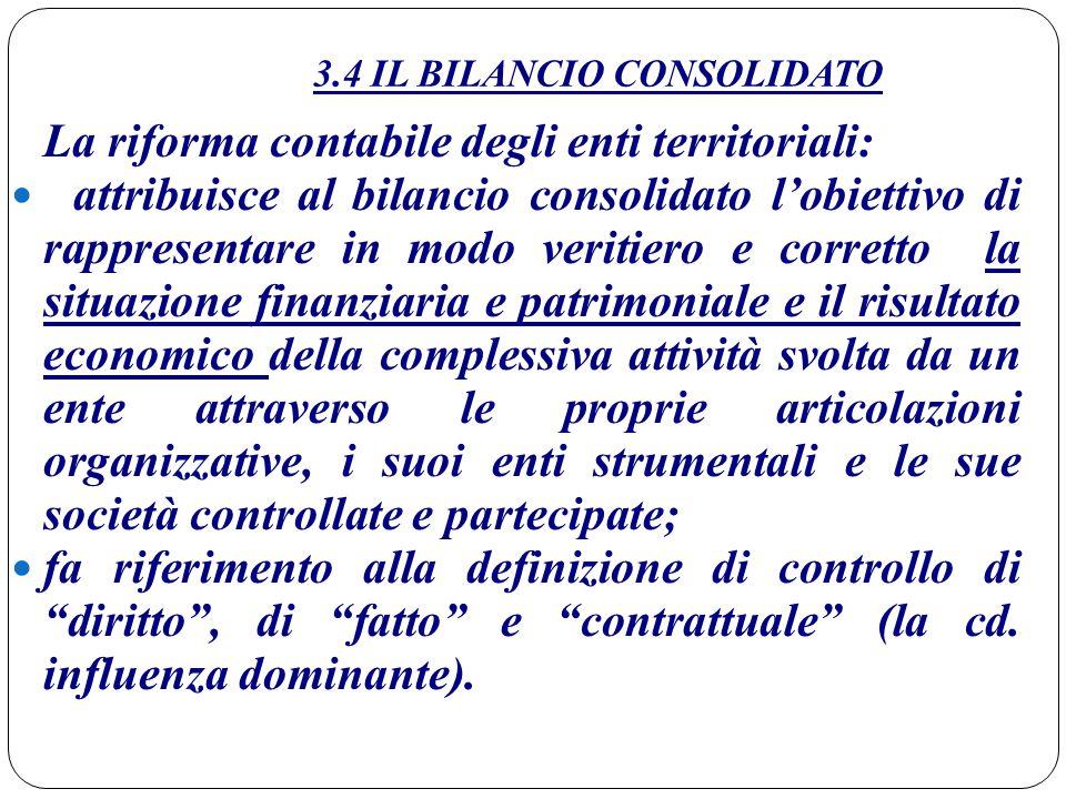 3.4 IL BILANCIO CONSOLIDATO