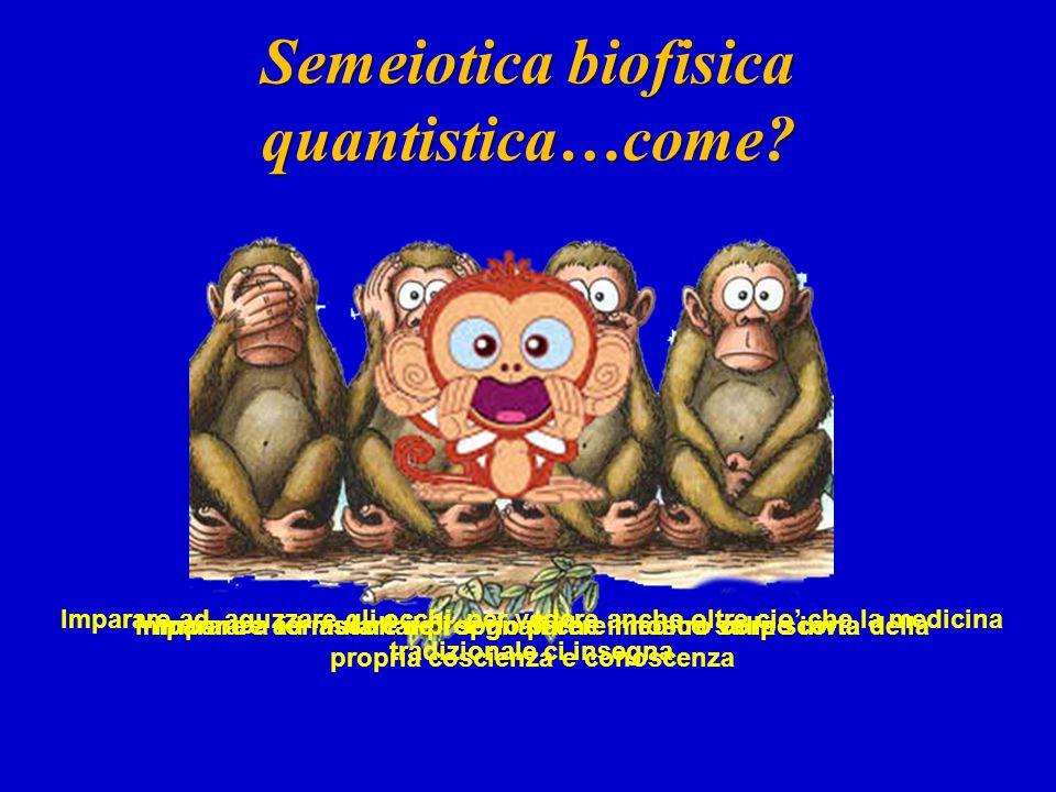 Semeiotica biofisica quantistica…come