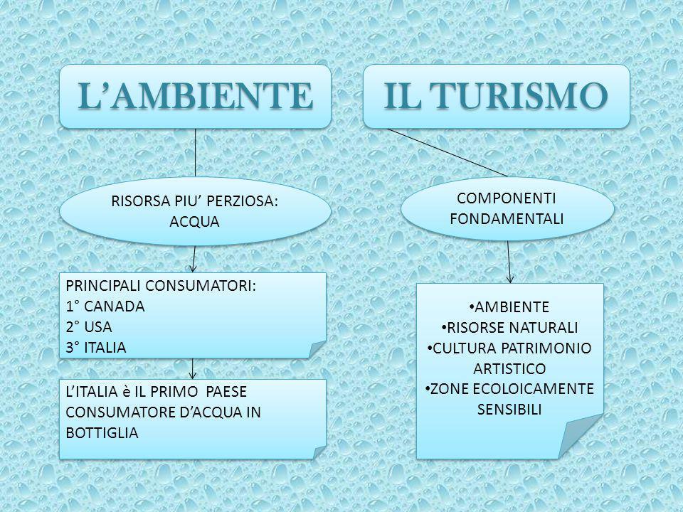 L'AMBIENTE IL TURISMO RISORSA PIU' PERZIOSA: COMPONENTI FONDAMENTALI