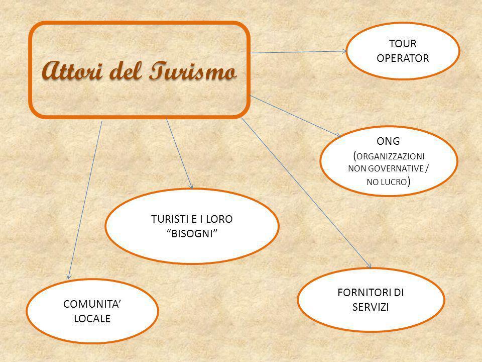 Attori del Turismo TOUR OPERATOR ONG