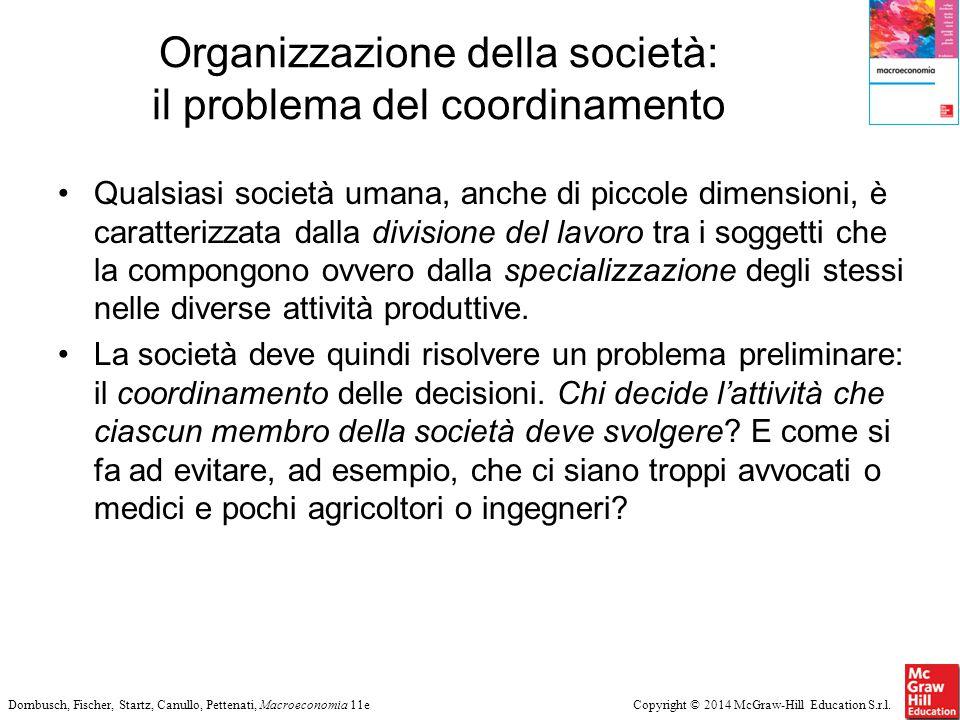 Organizzazione della società: il problema del coordinamento