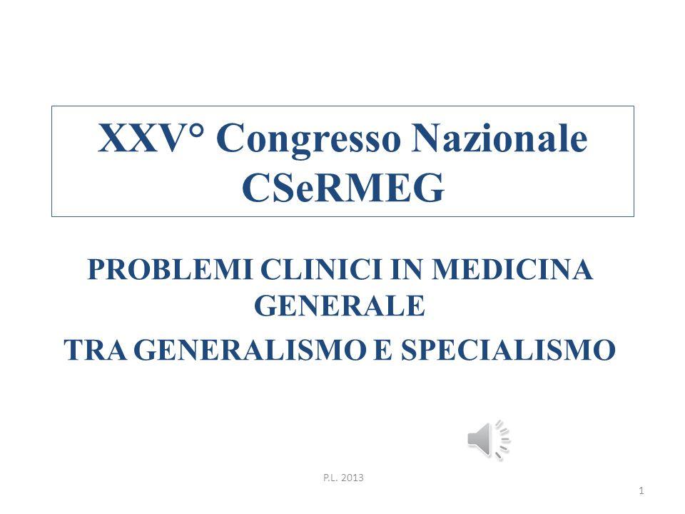 XXV° Congresso Nazionale CSeRMEG