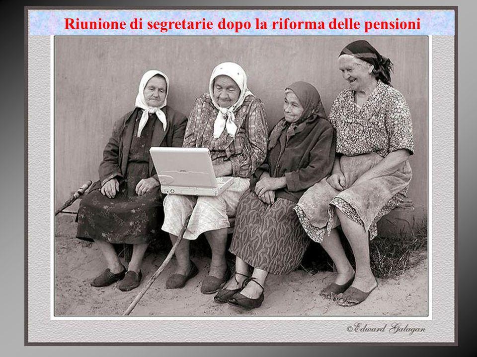 Riunione di segretarie dopo la riforma delle pensioni