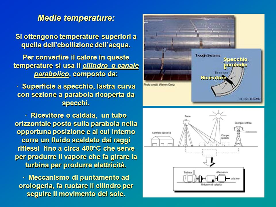 Medie temperature: Si ottengono temperature superiori a quella dell'ebollizione dell'acqua.