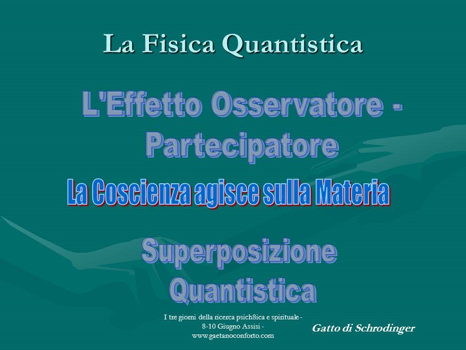 La Fisica Quantistica L Effetto Osservatore - Partecipatore