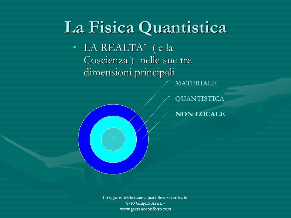 La Fisica Quantistica LA REALTA' ( e la Coscienza ) nelle sue tre dimensioni principali.