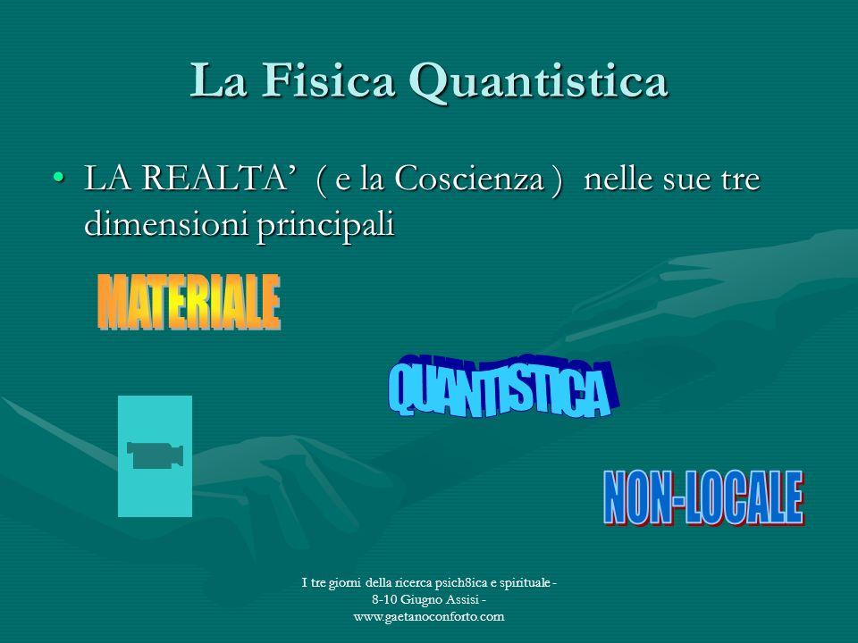 La Fisica Quantistica MATERIALE QUANTISTICA NON-LOCALE