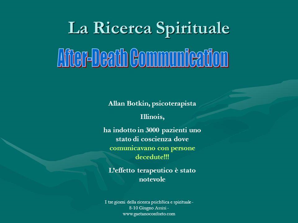 Allan Botkin, psicoterapista L'effetto terapeutico è stato notevole