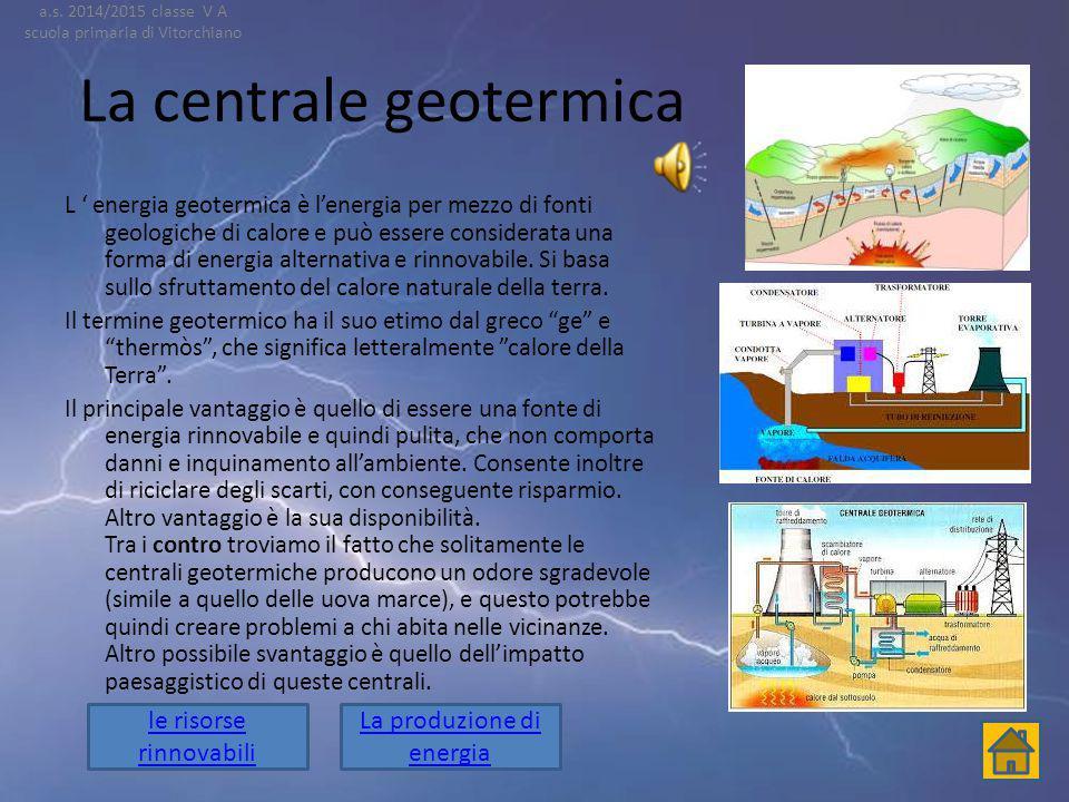 La centrale geotermica