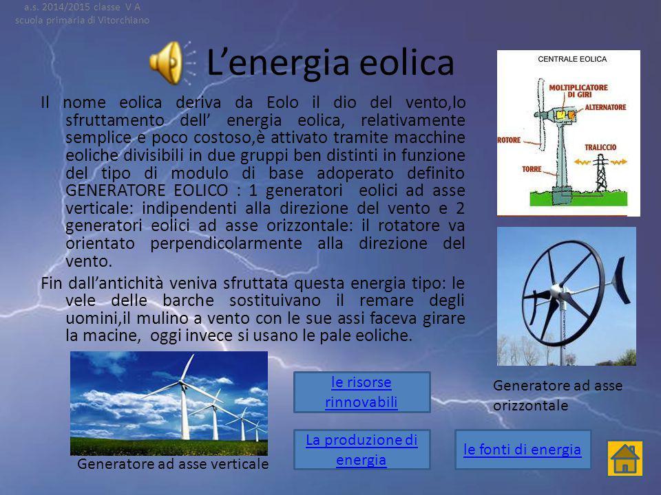 a.s. 2014/2015 classe V A scuola primaria di Vitorchiano. L'energia eolica.