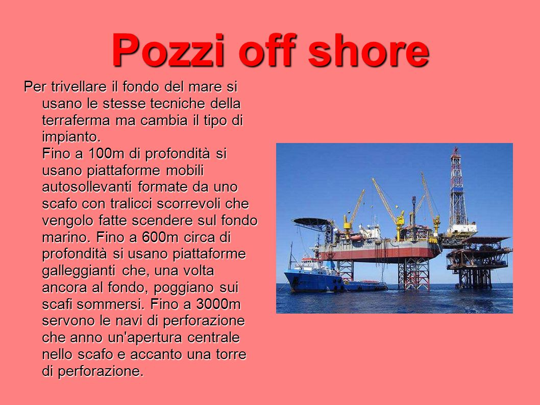 Pozzi off shore