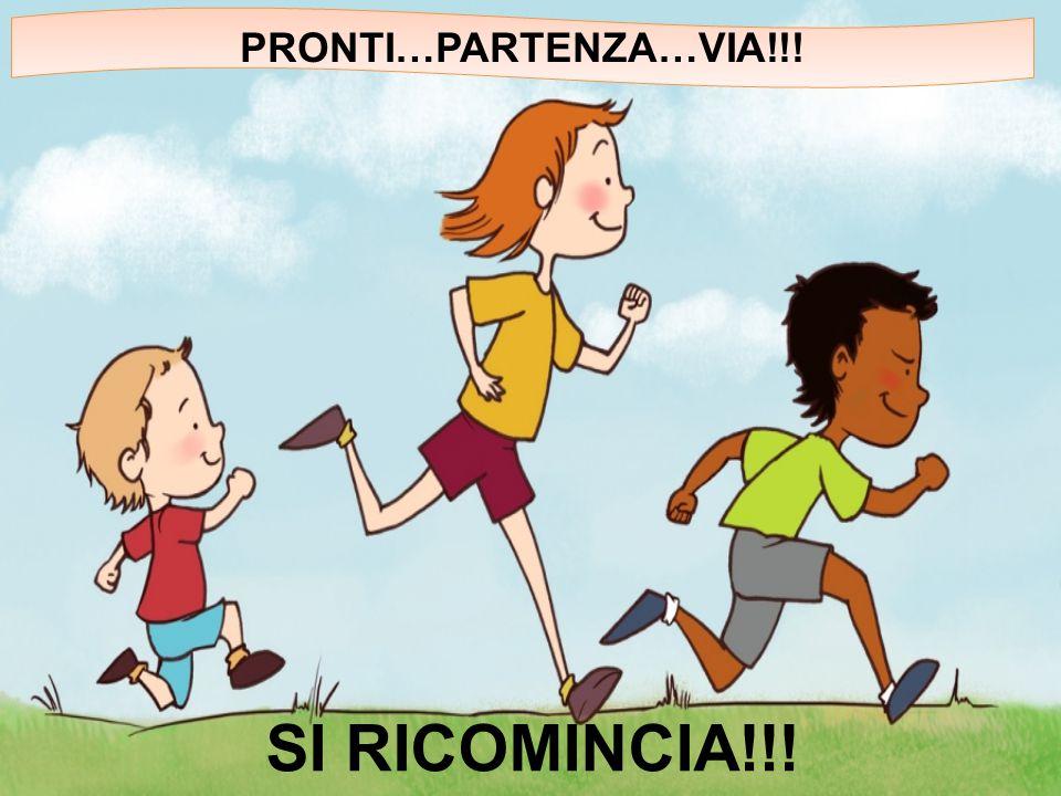 PRONTI…PARTENZA…VIA!!! SI RICOMINCIA!!!