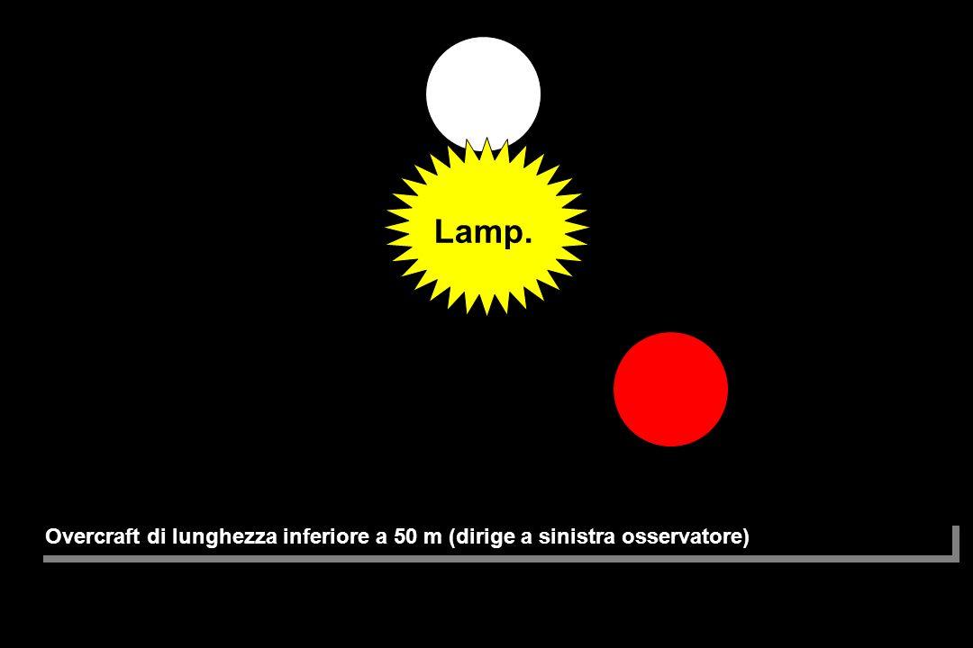 Lamp. Overcraft di lunghezza inferiore a 50 m (dirige a sinistra osservatore)