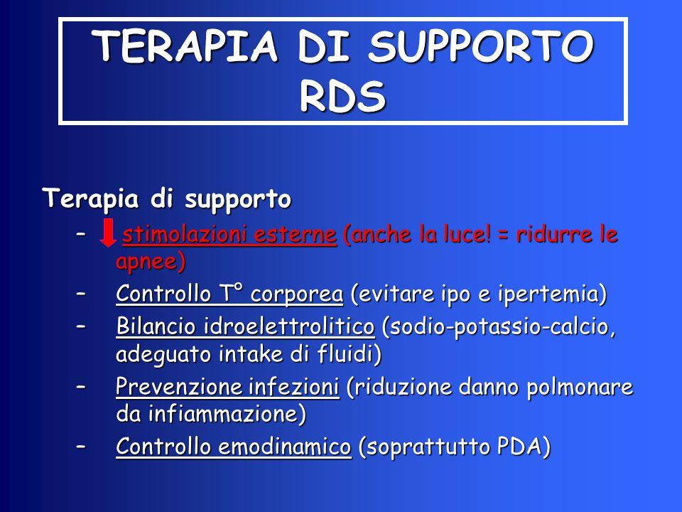 TERAPIA DI SUPPORTO RDS