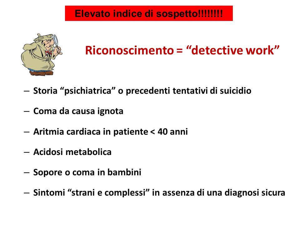 Elevato indice di sospetto!!!!!!!! Riconoscimento = detective work