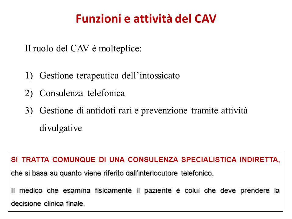 Funzioni e attività del CAV