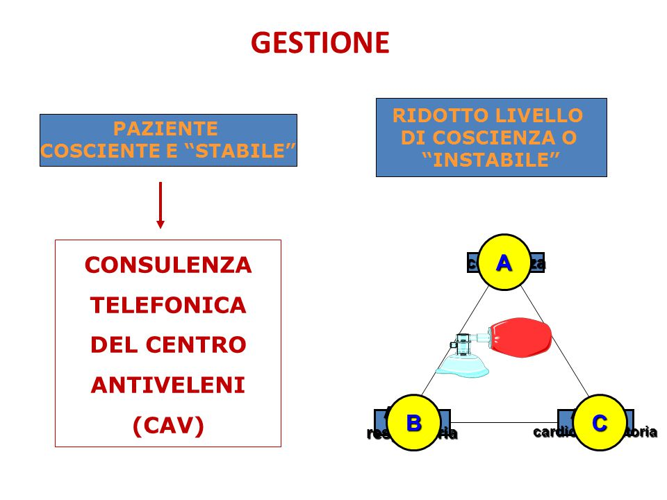 CONSULENZA TELEFONICA DEL CENTRO ANTIVELENI (CAV)